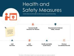 Health And Safety Measures Tender Management Ppt Template