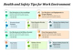 Health And Safety Tips For Work Environment