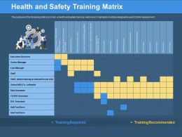 Health And Safety Training Matrix Assessor Ppt Powerpoint Presentation Pictures