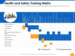 Health And Safety Training Matrix Executive Ppt Powerpoint Presentation Ideas Grid