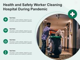 Health And Safety Worker Cleaning Hospital During Pandemic