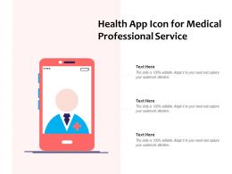 Health App Icon For Medical Professional Service