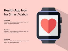 Health App Icon For Smart Watch