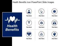 Health Benefits Icon Powerpoint Slide Images