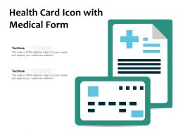 Health Card Icon With Medical Form