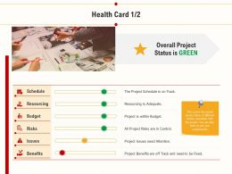 Health Card Resourcing Adequate Ppt Powerpoint Presentation Files