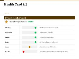 Health Card Within Budget Ppt Powerpoint Presentation Professional Show