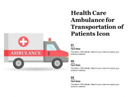 Health Care Ambulance For Transportation Of Patients Icon