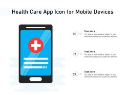 Health Care App Icon For Mobile Devices