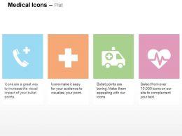 Health Care Call Medical Symbol Ambulance Heart Health Ppt Icons Graphics