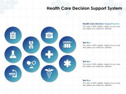 Health Care Decision Support System Ppt Powerpoint Presentation Styles Good
