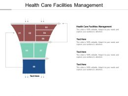 Health Care Facilities Management Ppt Powerpoint Presentation Show Outline Cpb