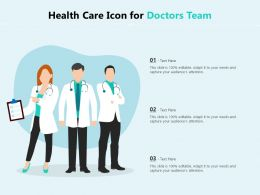 Health Care Icon For Doctors Team
