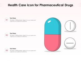Health Care Icon For Pharmaceutical Drugs