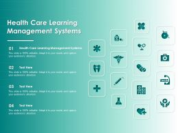 Health Care Learning Management Systems Ppt Powerpoint Presentation Portfolio