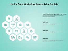 Health Care Marketing Research For Dentists Ppt Powerpoint Presentation Portfolio Examples