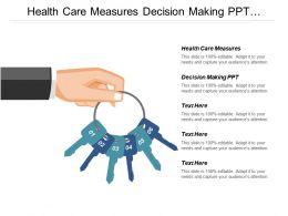 Health Care Measures Decision Making Ppt Investment Pitch Cpb