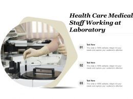 Health Care Medical Staff Working At Laboratory