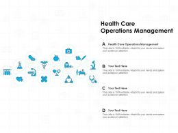 Health Care Operations Management Ppt Powerpoint Presentation Show Examples