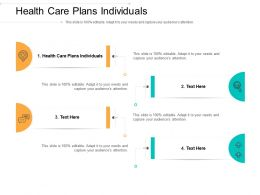 Health Care Plans Individuals Ppt Powerpoint Presentation Model Show Cpb