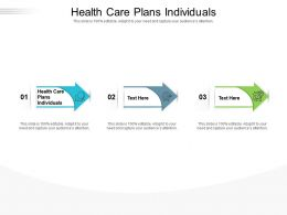 Health Care Plans Individuals Ppt Powerpoint Presentation Summary Aids Cpb