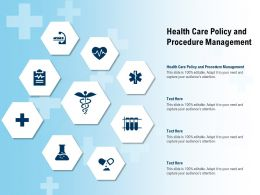 Health Care Policy And Procedure Management Ppt Powerpoint Presentation File Professional