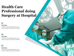 Health Care Professional Doing Surgery At Hospital