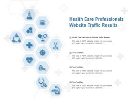 Health Care Professionals Website Traffic Results Ppt Powerpoint Presentation Professional