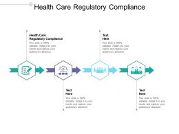 Health Care Regulatory Compliance Ppt Powerpoint Presentation Outline Graphics Download Cpb
