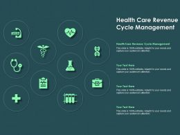 Health Care Revenue Cycle Management Ppt Powerpoint Presentation Professional Microsoft