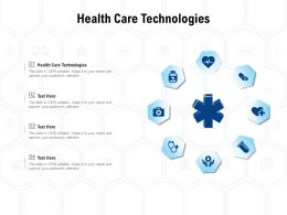 Health Care Technologies Ppt Powerpoint Presentation Outline Example Introduction