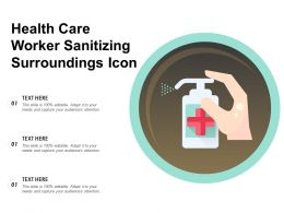 Health Care Worker Sanitizing Surroundings Icon