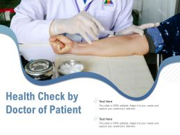 Health Check By Doctor Of Patient