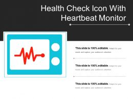 Health Check Icon With Heartbeat Monitor