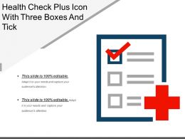 Health Check Plus Icon With Three Boxes And Tick