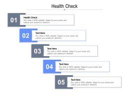 Health Check Ppt Powerpoint Presentation Portfolio Show Cpb