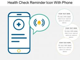 Health Check Reminder Icon With Phone