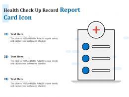 Health Check Up Record Report Card Icon