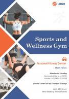 Health Club And Fitness Center Four Page Brochure Template