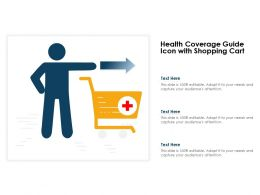 Health Coverage Guide Icon With Shopping Cart
