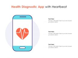 Health Diagnostic App With Heartbeat