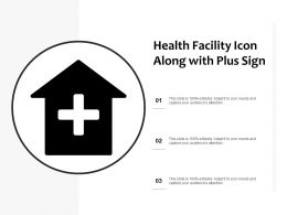 Health Facility Icon Along With Plus Sign
