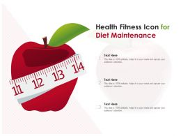 Health Fitness Icon For Diet Maintenance