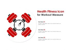 Health Fitness Icon For Workout Measure