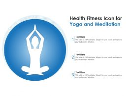 Health Fitness Icon For Yoga And Meditation