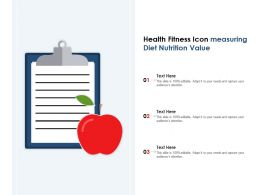 Health Fitness Icon Measuring Diet Nutrition Value