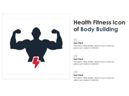 Health Fitness Icon Of Body Building