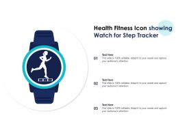 Health Fitness Icon Showing Watch For Step Tracker
