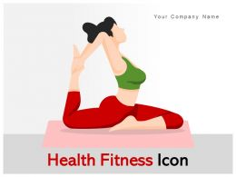 Health Fitness Icon Wellness Yoga Workout Diet Maintenance Measure