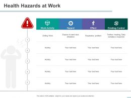 Health Hazards At Work Effect Powerpoint Presentation Example Introduction